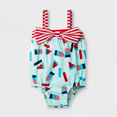 Baby Girls' Popsicle One Piece Swimsuit - Cat & Jack™ Aqua 6-9M