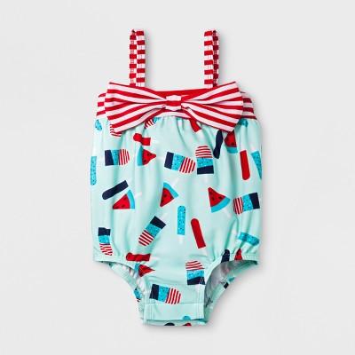 Baby Girls' Popsicle One Piece Swimsuit - Cat & Jack™ Aqua 3-6M