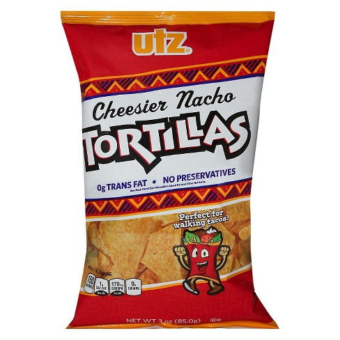 Utz® Cheesier Nacho Tortillas 3 oz - image 1 of 1