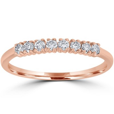 Pompeii3 Diamond Wedding Ring 14K Rose Gold
