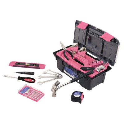 Apollo Tools 53-Pc. Household Tool Kit - Pink