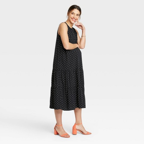 The Nines By Hatch Floral Print Sleeveless Henley Placket Tiered Modal Maternity Dress Target
