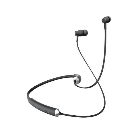 Sharper Image Sport Fit Wireless Earbuds On Neck Black Sbt549bksl