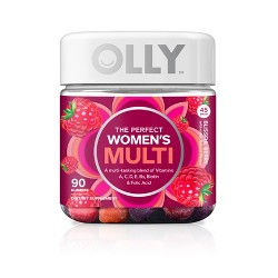 Olly The Perfect Women's Multi-Vitamin Blissful Dietary Supplement Gummies - Berry - 90ct