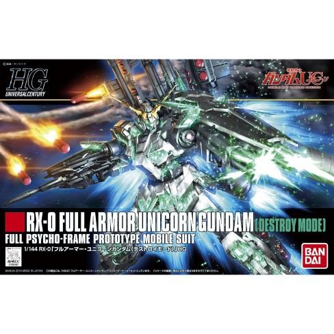 Bandai Hobby HGUC Full Armor Unicorn Gundam Destroy Mode HG 1/144 Model Kit - image 1 of 3