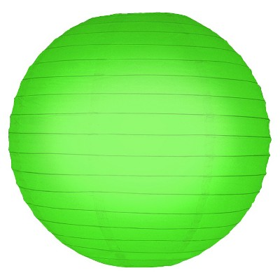 "5ct 10"" Lumabase Green Round Paper Lanterns"