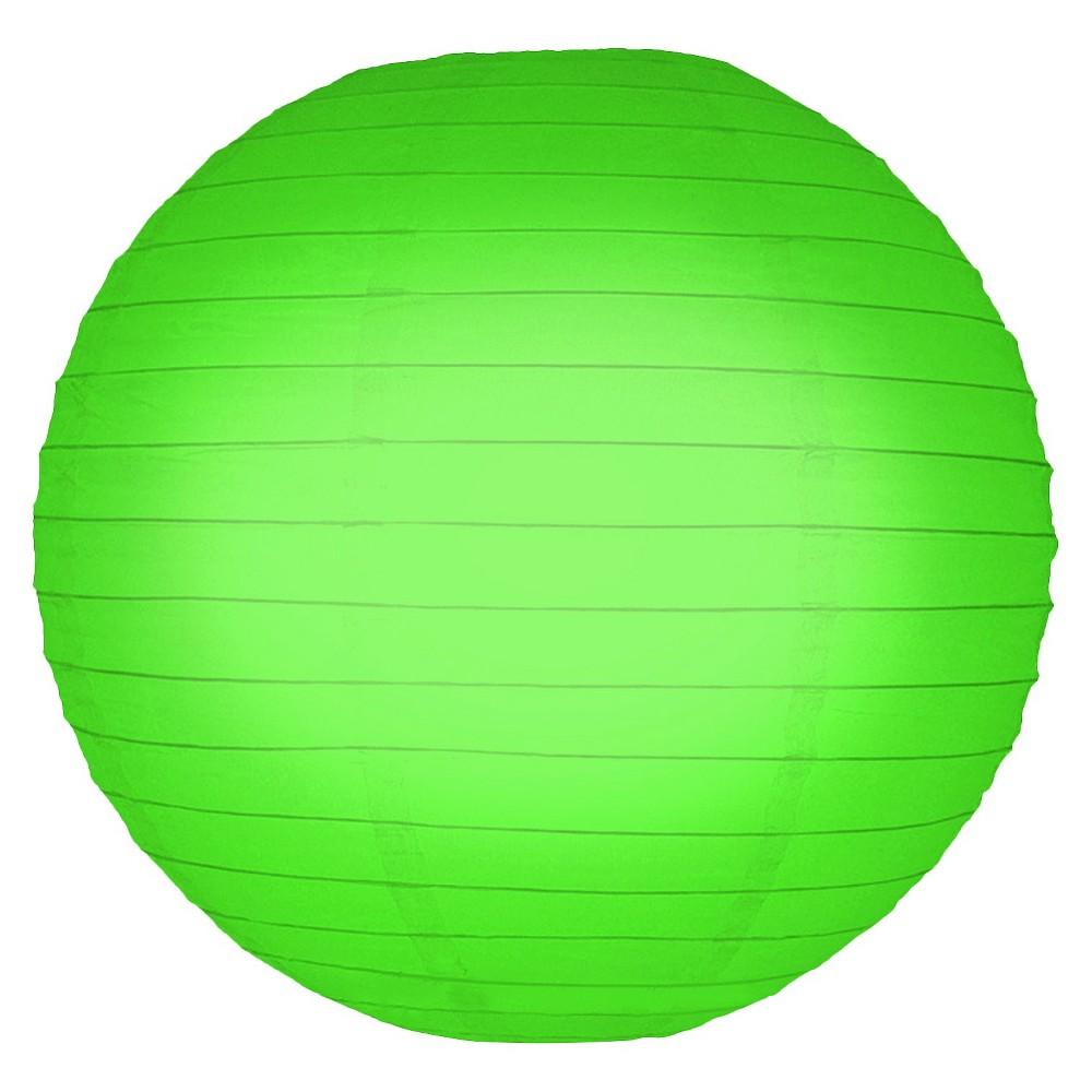 5ct Lumabase Green Round Paper Lanterns 10