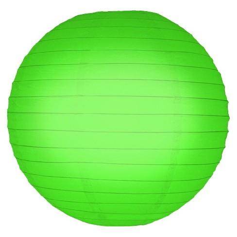"""5ct 10"""" Lumabase Green Round Paper Lanterns - image 1 of 3"""