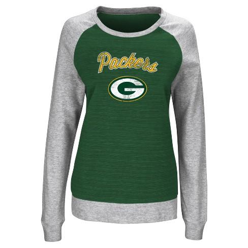 Green Bay Packers Women s Raglan Pullover Sweatshirt   Target 9e2068625