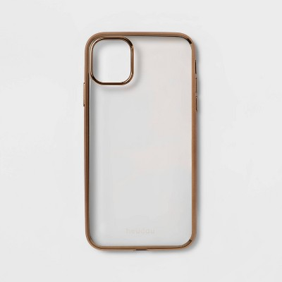 heyday™ Apple iPhone Clear Case with Bumper Frame - Gold
