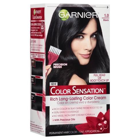 Garnier Color Sensation Rich Long Lasting Color Cream 10 Black Target
