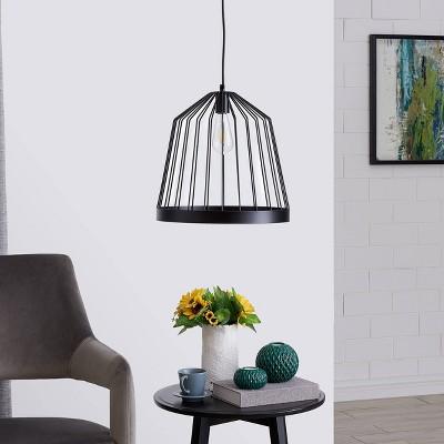 "15"" Clide Pendant Lamp Black - Aiden Lane"