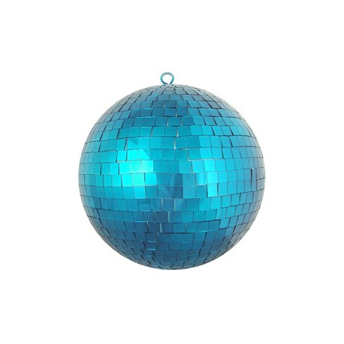 "Northlight 8"" Peacock Blue Mirrored Glass Disco Ball Christmas Ornament - image 1 of 1"