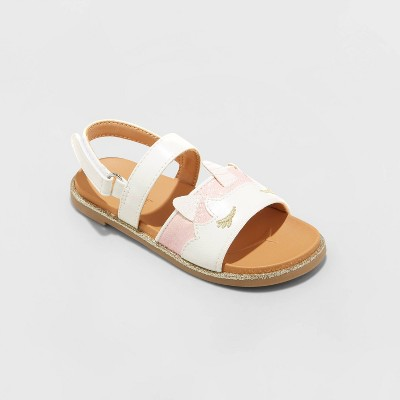 Toddler Girls' Dolores Buckle Footbed Sandals - Cat & Jack™ White