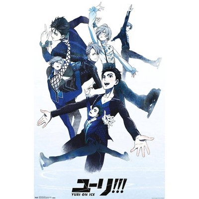 """22.375"""" x 34"""" Yuri On Ice - Group Unframed Wall Poster Print - Trends International"""