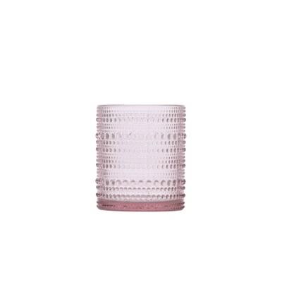 10oz 6pk Glass Jupiter Double Old Fashion Glasses Pink - Fortessa Tableware Solutions