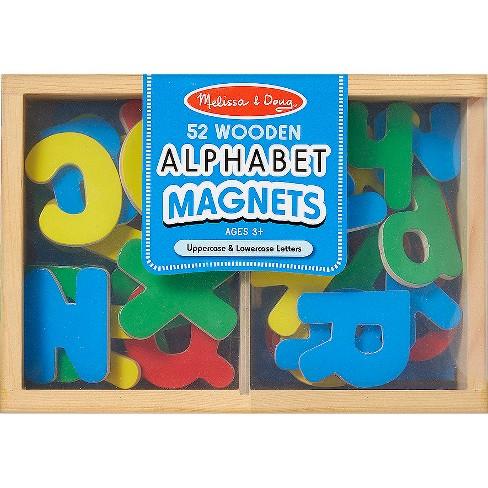 melissa doug 52 wooden alphabet magnets in target