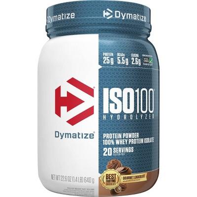 Dymatize 100% Whey Isolate ISO100 Hydrolyzed Protein Powder - Gourmet Chocolate - 22.6oz