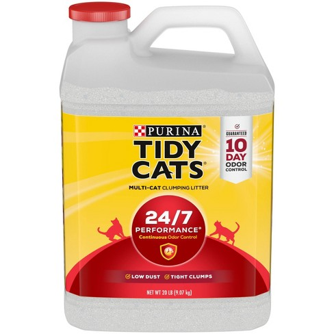 Purina Tidy Cats Clumping Cat Litter 24/7 Performance for Multiple Cats - 20lb Jug - image 1 of 4