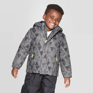 Toddler Boys' Printed 3-in-1 Jacket - Cat & Jack™ Gray 18M