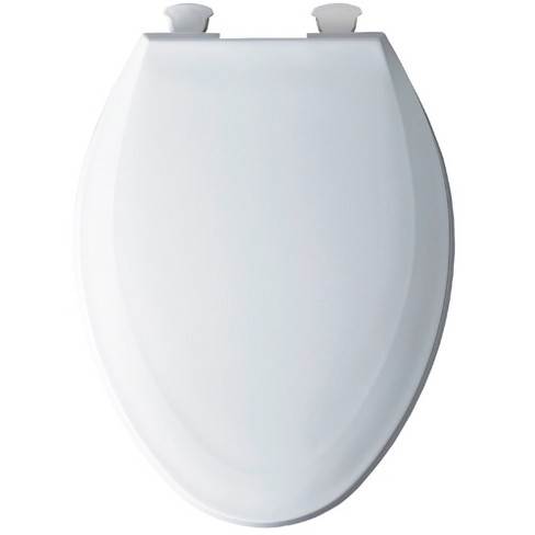 Terrific Bemis 1100Ec Elongated Plastic Toilet Seat With Easy Clean Change Hinge White Ocoug Best Dining Table And Chair Ideas Images Ocougorg