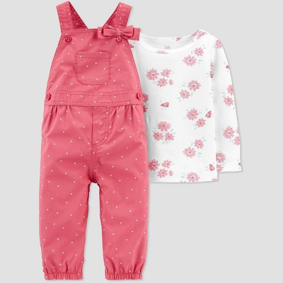 Baby Girls' Floral Top & Bottom Set - Just One You® made by carter's Pink 3M