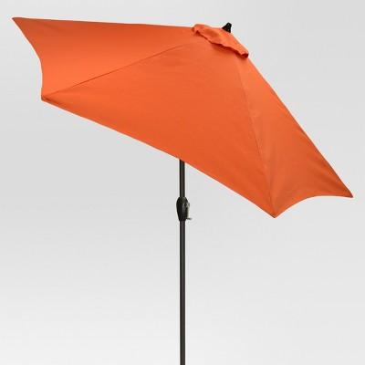 9' Round Patio Umbrella - Coral - Black Pole - Threshold™
