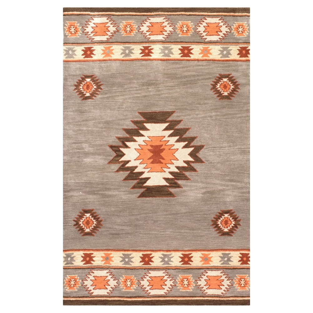 Sterling Gray Abstract Tufted Area Rug - (2'x3') - nuLOOM, Green