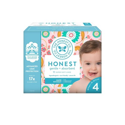 The Honest Company Flower Child Club Box Disposable Diapers - Size 4 (60ct)