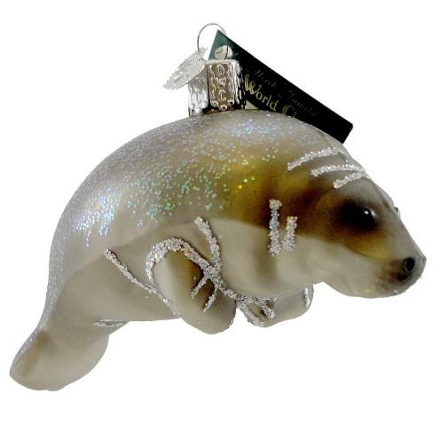 "Old World Christmas 2.5"" Manatee Ornament Sea Ocean Mammal Fish  -  Tree Ornaments - image 1 of 3"