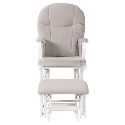 Shermag Madison Glider & Ottoman Combo - White/Gray
