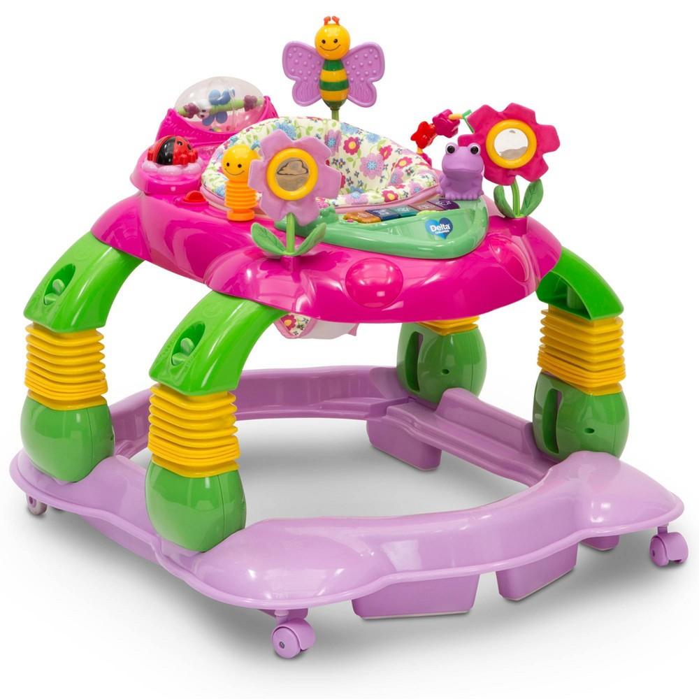 Image of Delta Children Lil Play Station 4-in-1 Activity Walker - Floral Garden