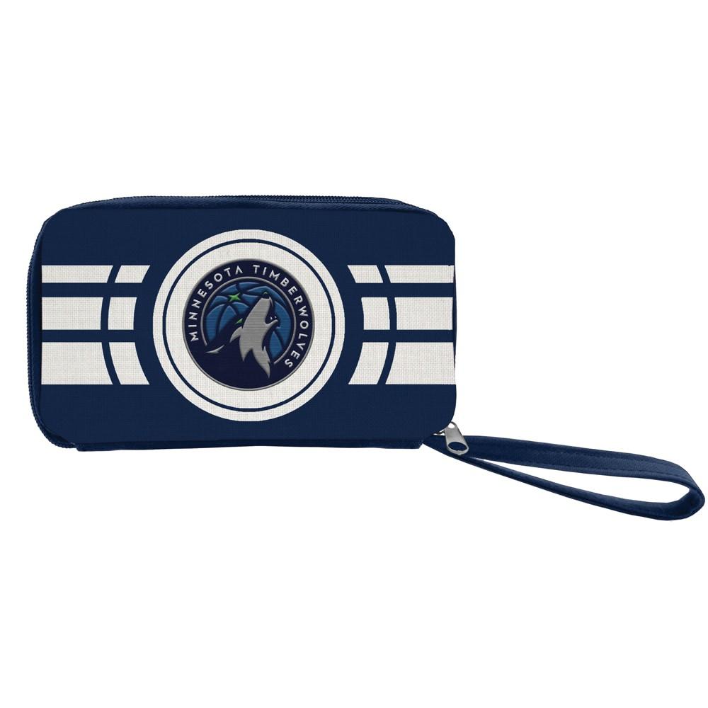NBA Minnesota Timberwolves Ripple Zip Wallet, Adult Unisex