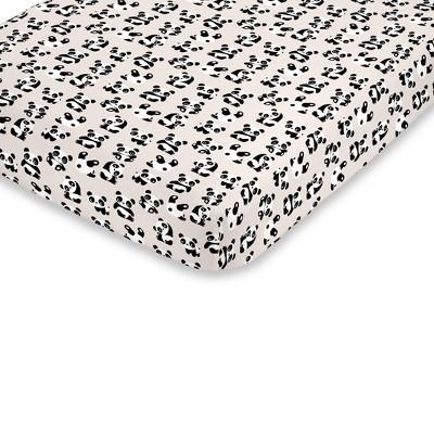 NoJo Super Soft Playful Panda Fitted Crib Sheet