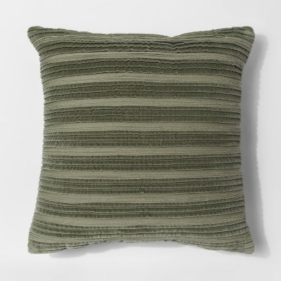 Green Pleated Textured Throw Pillow - Threshold™