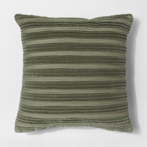 Pleated Textured Throw Pillow - Threshold™ - image 1 of 1