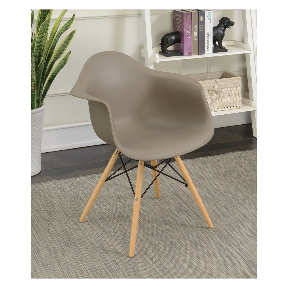 Harlan Contemporary Accent Chair Light Brown - Homes: Inside + Out, Taupe Brown