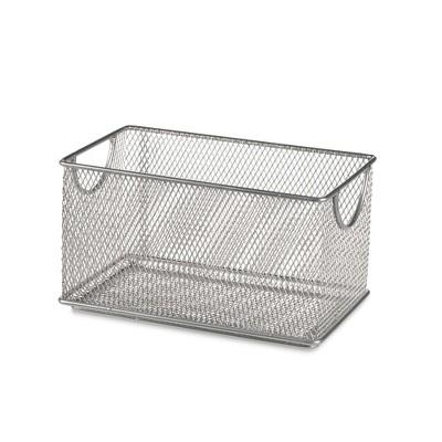 Design Ideas Mesh Stacking Bin – Metal Shelving Storage Container Organizer