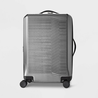 "Hardside 21"" Carry On Suitcase Silver - Open Story™"