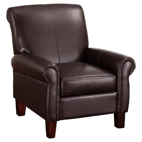 Faux Leather Club Chair Espresso Dorel Living