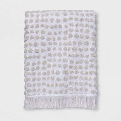 Sculpted Dot Bath Towel White - Project 62™