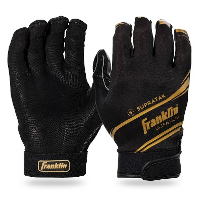 Franklin Sports Supratak Adult Receiver Gloves - Black XL