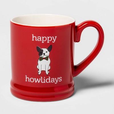 16oz Stoneware Happy Howlidays Mug Red - Threshold™