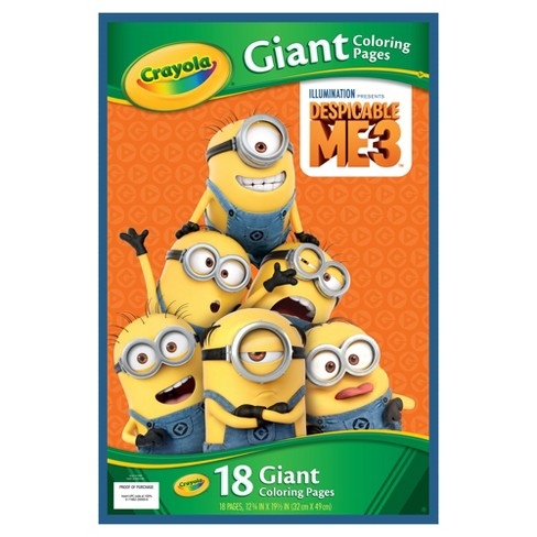 crayola giant coloring pages Crayola Giant Coloring Pages, Despicable Me 3, Gift For Kids, 18pg  crayola giant coloring pages