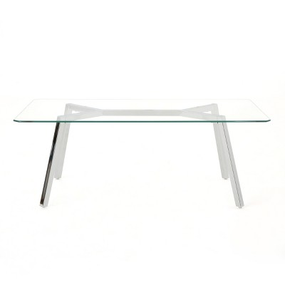 Zavier Coffee Table Clear   Christopher Knight Home by Christopher Knight Home