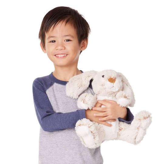 "Melissa & Doug Burrow Bunny Rabbit 9"" Stuffed Animal image number null"