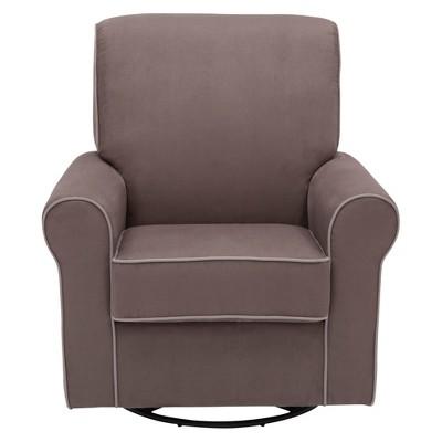 Delta Children® Rowen Nursery Glider Swivel Rocker Chair - Graphite/Dove Gray Welt