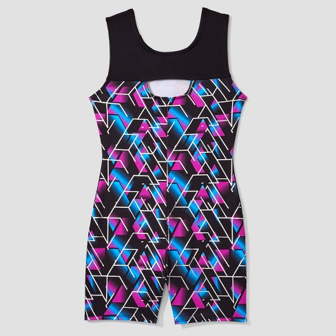 b10661de8e Freestyle® by Danskin® Girls' Activewear Biketard - Magenta/Black