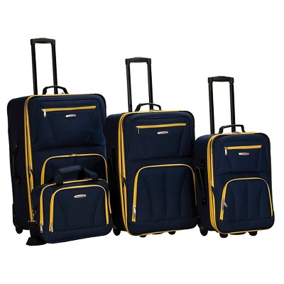 Rockland Journey 4pc Luggage Set - Navy