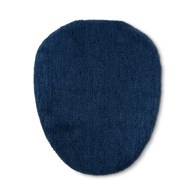 Tufted Spa Toilet Lid Cover Standard Metallic Blue - Fieldcrest®